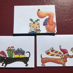 Christmas Dawgs Trio #2 Originals only 1 set