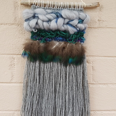 Peacock inspired wall hanging - small