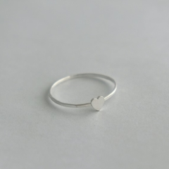 Dainty Heart Ring, Sterling Silver Love Heart Stacking Ring
