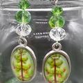 Christmas Tree Beaded Earrings Santa gift festive xmas star