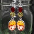 Christmas Time Beaded Earrings Santa gift festive xmas star