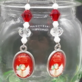 Christmas Snowman Beaded Earrings Santa gift festive xmas