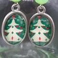 Christmas Tree Beaded Earrings Santa gift festive xmas
