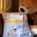 """""""Busy Bee Flowers"""" Reading/Pocket Cushion (cover only)"""