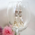 Silver and Ivory earrings