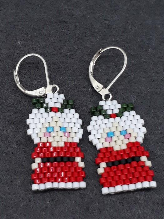 e1b85799f888f Christmas Mrs Clause Beaded Earrings Santa Christmas xmas festive ...