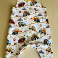 """Boy's """"Trucks"""" Romper, fully lined in matching colour.  Size 6-9 months."""