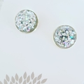All That Glitters - Silver Plated Studs - Silver