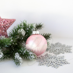 Christmas Stock Photo - Pink Bauble