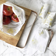 Reusable produce bags - set of four - eco-friendly zero waste shopping bags