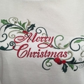 "Ladies Boat Neck Dolman Sleeve T-Shirt ""Merry Christmas"""