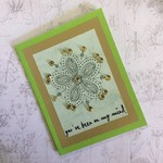 Green 'you've been on my mind' Blank Card