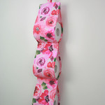Pink  Fabric Toilet Roll Holder, Paper Holder / Storage for Bathroom, Caravan -