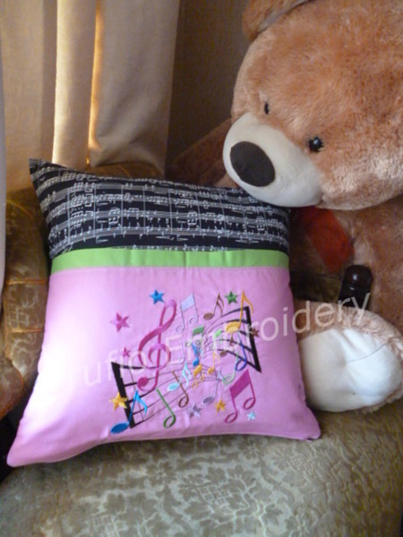 """Music Burst"" Reading/Pocket Cushion  (cover only)"