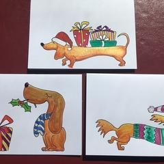 Christmas Dawgs Trio #4 Limited Edition Prints