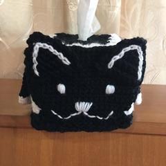 CAT CROCHET TISSUE BOX COVER