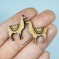 Cute Llama Studs // HypoAllergenic // FREE POSTAGE // Laser Cut Bamboo