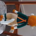 Manny the hand crocheted Monkey - unisex, washable, OOAK by CuddleCorner