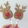 20 Christmas Lollipop holders.  Chuppa Chup cards. Class children gift free post