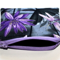Small Coin Purse in Lovely Waterlily and Dragonfly Fabric