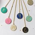 Initial Dots Necklace ~ Cursive Letter Necklace ~ Custom Necklace