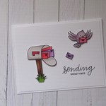 Friendship Card - Handmade - 'Sending Good Vibes' - Letterbox & Bird