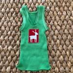 Christmas Reindeer singlet boy girl baby red green xmas unisex size 0