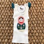 Christmas babushka doll singlet size 00 girl baby pompom xmas