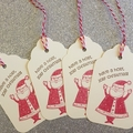 8 Christmas Gift Tag Pack, swing tag