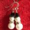 Novelty Snowman Earrings with Sterling Silver Sheppard for Pierced Ears