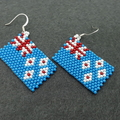 New Zealand Flag Beaded Earrings flag kiwi Waitangi day