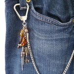 Jean Jewels | Boho Jean Chain | Jean Clips | Clothing Accessories | Amber