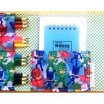 PJ Masks Pencil Wallet,  Pencil Case, drawing activity set