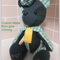 Memory Bear, Keepsake Bear, Unique Gift, Teddy Bear, Memorial Gift, Custom Made