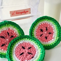 Cotton Reusable Makeup Removal Pads in a Watermelon design