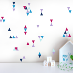 5cm Triangle Wall Decals - 165 Triangles - Removable Decals