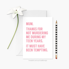 Custom Card for Mum / Mom / Dad | Funny Birthday Card | Mother's Day Card