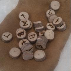 Miniature Handmade Elder Futhark Runes, Australian rosewood, casting, divination