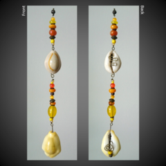 Yellow Cowrie Shell Seashell Lucky Earth Charm Sun Catcher