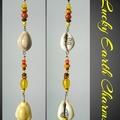 Yellow Cowrie Shell Seashell Lucky Earth Charm Sun Catcher