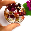 Resin Ring Dish Trinket Dish Flowers in Resin Handmade BlackwoodLily
