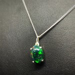 1.72 carat Solid Black Welo Opal set in sterling silver