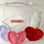 Cotton Reusable Makeup Removal Pads in a Heart design