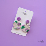 Spring Shimmer - Purple (large round dangles