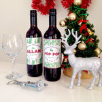 Personalised Digital Christmas Wine Label
