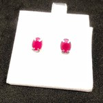 Genuine Ruby earrings set in sterling silver