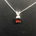 Genuine Ruby pendants in sterling silver