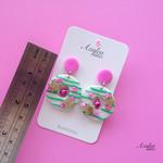 Azalea Lane AU - Wreath with bells in Pink