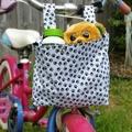 Handlebar Bag | Scooter Bag | Bike Bag | Paw Prints | Free Shipping