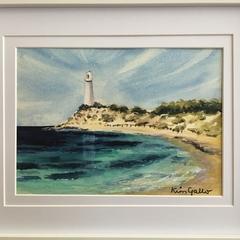 Rottnest Island, Western Australia, Framed Original Watercolour Painting